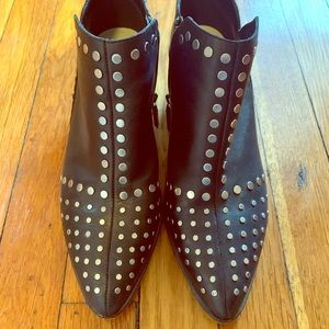 1. State Black Leather Studded Booties